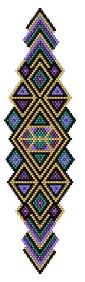схема бисероплетения ромб на браслет