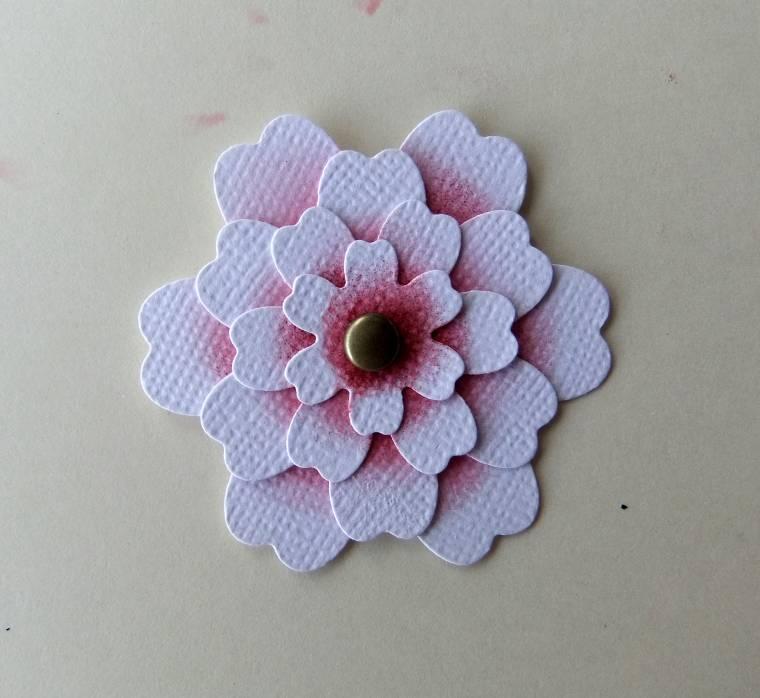 как сделать цветок для скрапбукинга