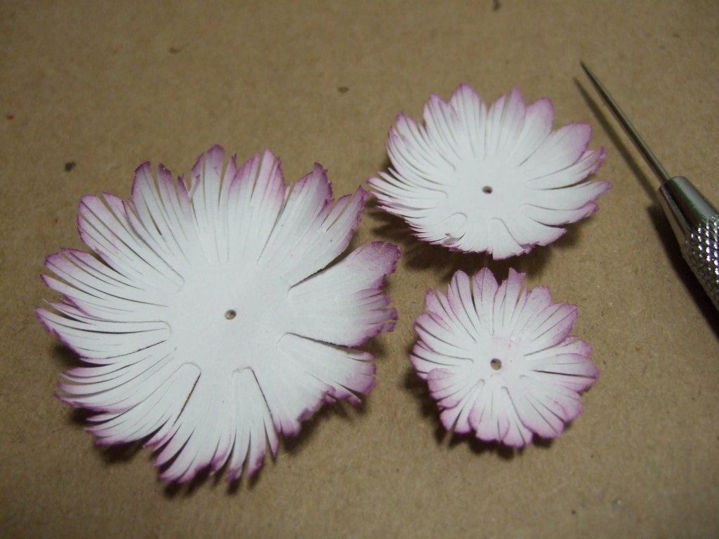 пошагово цветок из бумаги