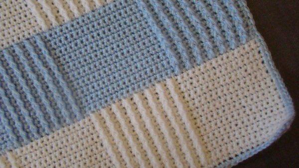 детское одеяло крючком схема