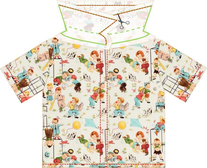 пошив детской рубашки