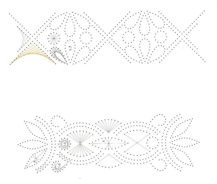 схемы вышивки бордюры