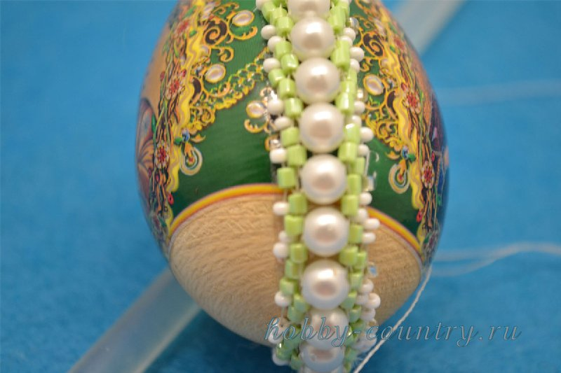 плетение бисером яйца мастер класс