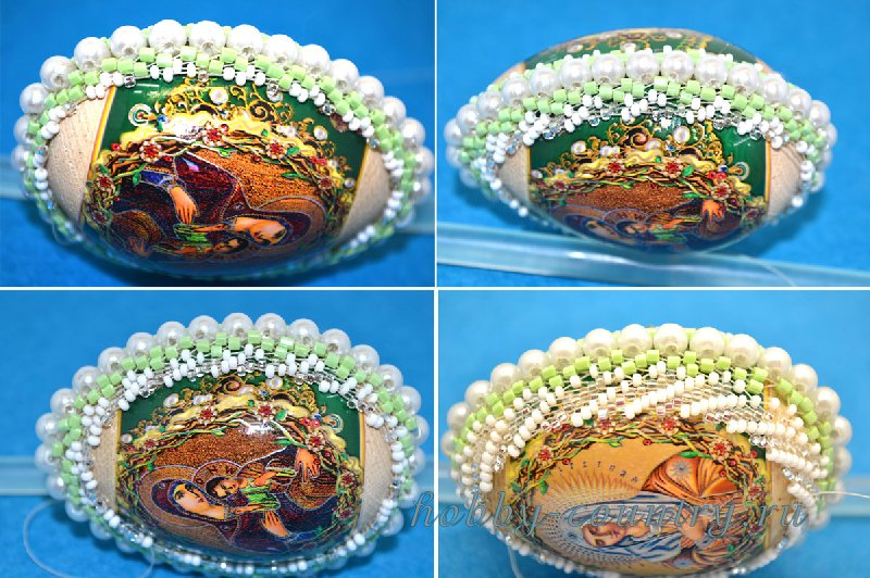 мастер класс яйца из бисера