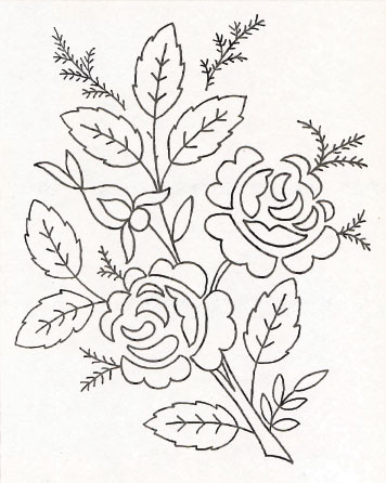 рисунок букет цветов