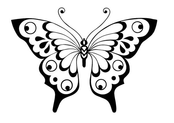 рисунки бабочек для трафарета