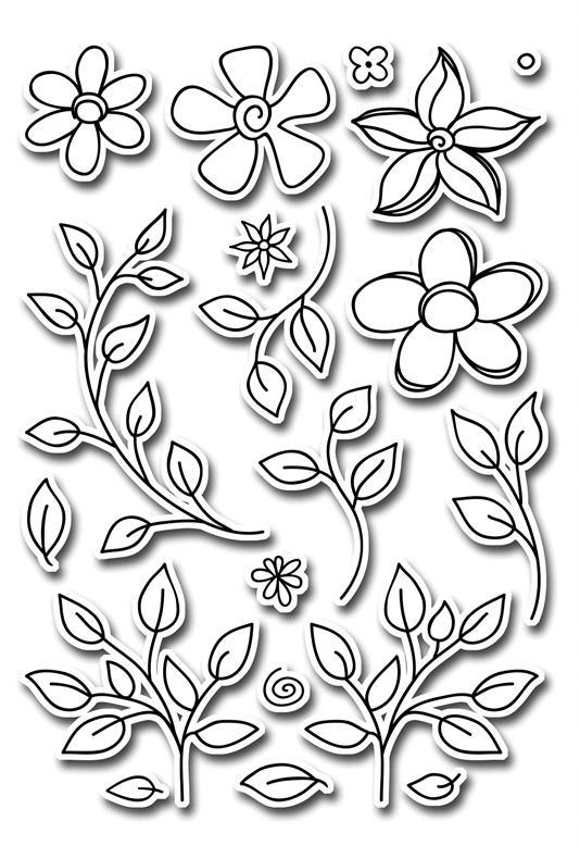 картинки трафареты цветов