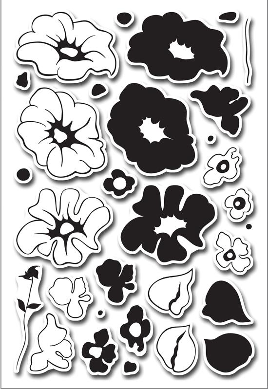 рисунок трафарет цветы