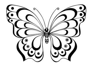 трафареты для декора бабочки