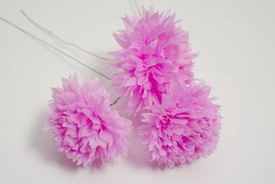 цветы из гофрированной бумаги мк