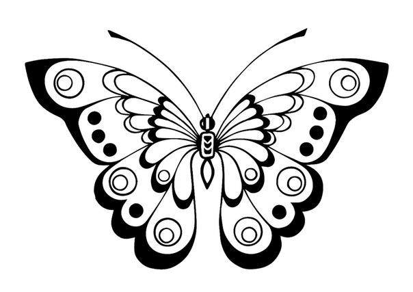 трафарет бабочки своими руками