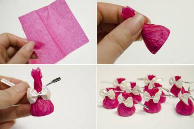 букет из конфет цветок