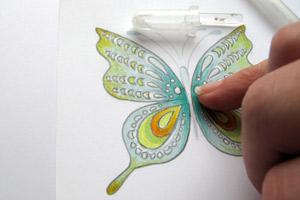 как нарисовать на открытке рисунок