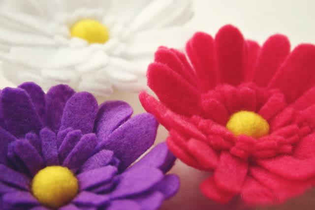 цветок из фетра шаблон