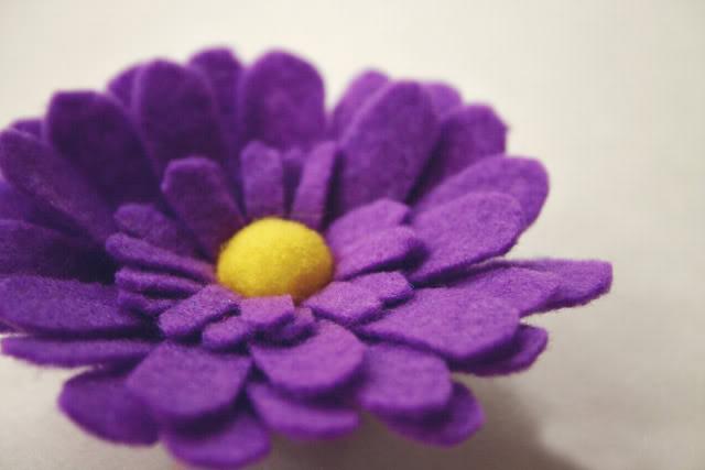 выкройки цветов из фетра