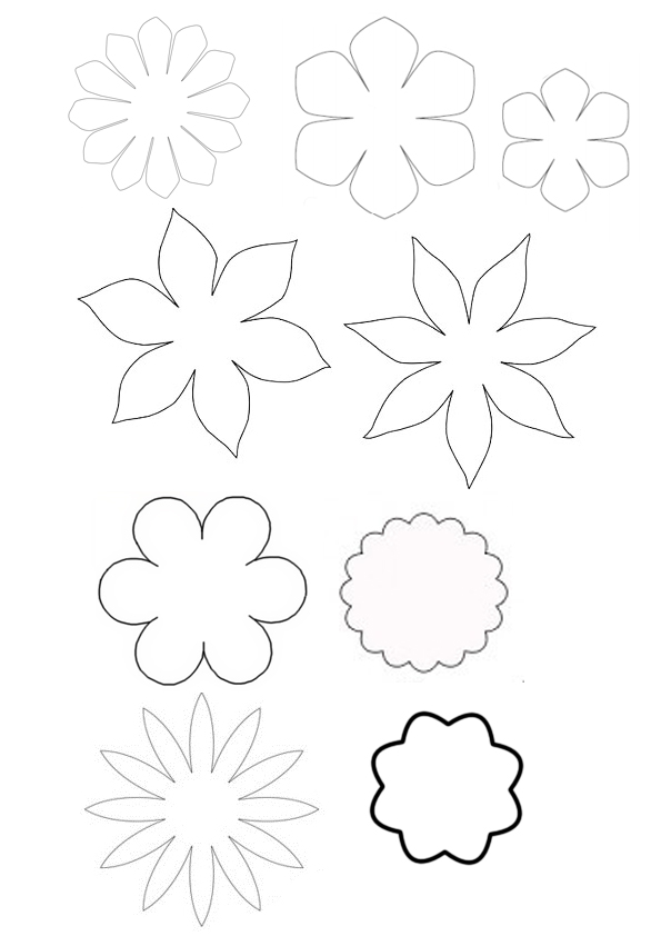Шаблон из фетра цветы