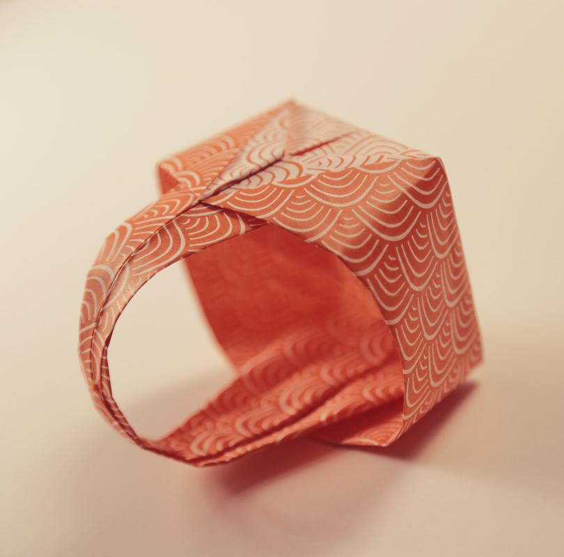 корзинка оригами мастер класс