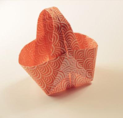 оригами корзинка