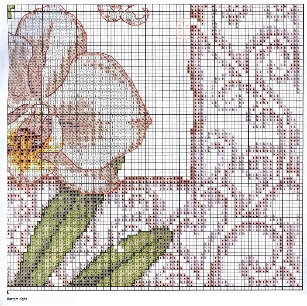 орхидея схема вышивки крестом