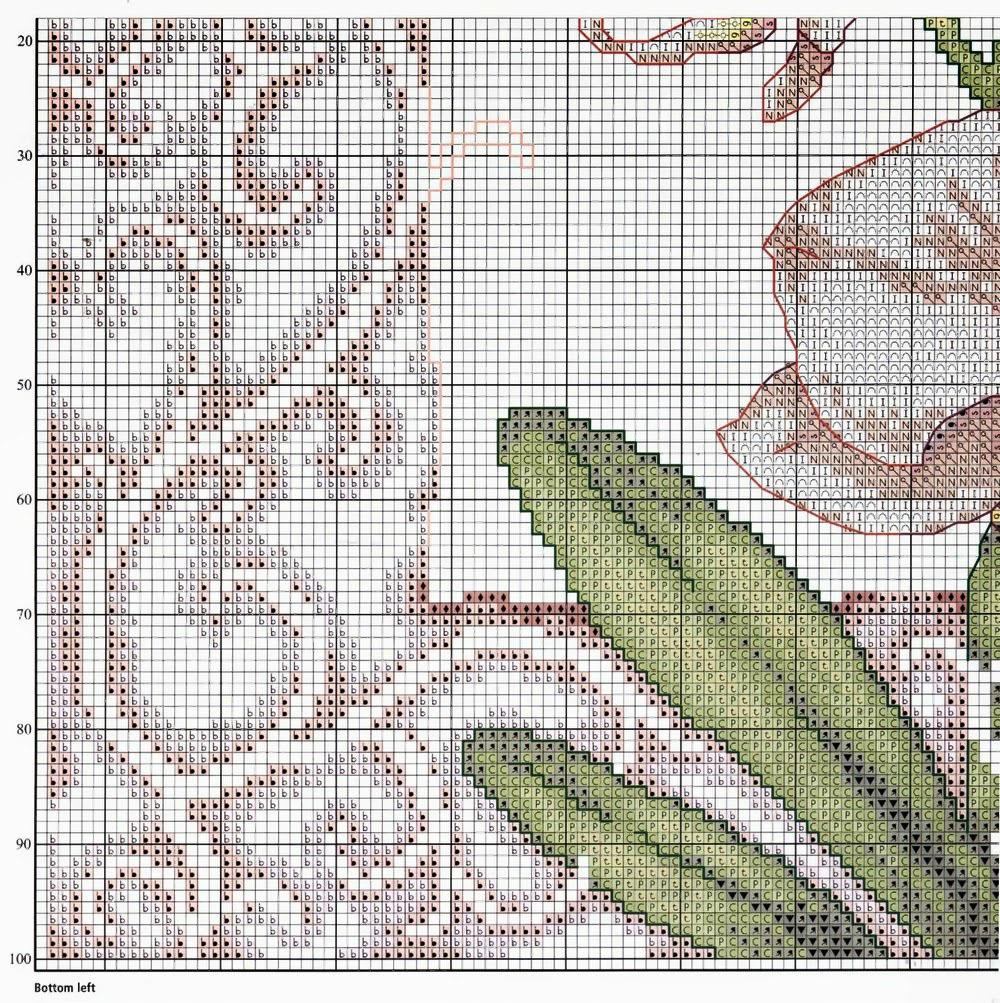 Вышивки схемы с орхидеями 76