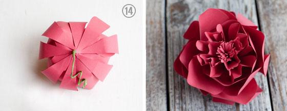 как делать объемные цветы из бумаги