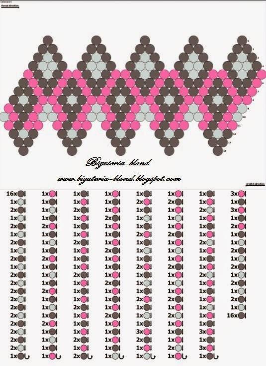 Схемы вязания бусин из бисера 3