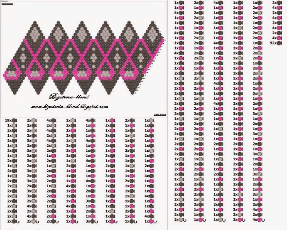 схемы для вязания бусин
