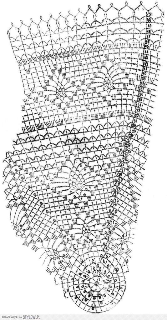 схема вязания круглой салфетки крючком