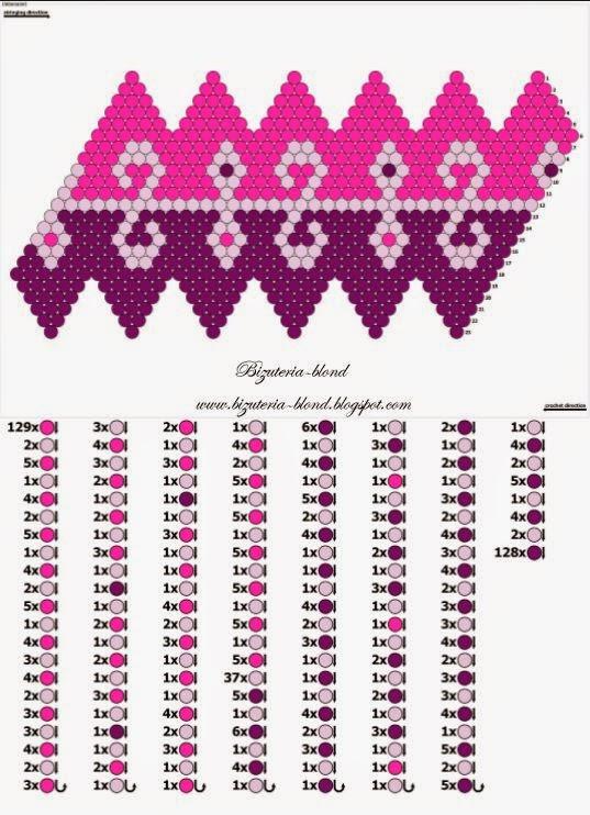 Схемы вязания бусин из бисера 94