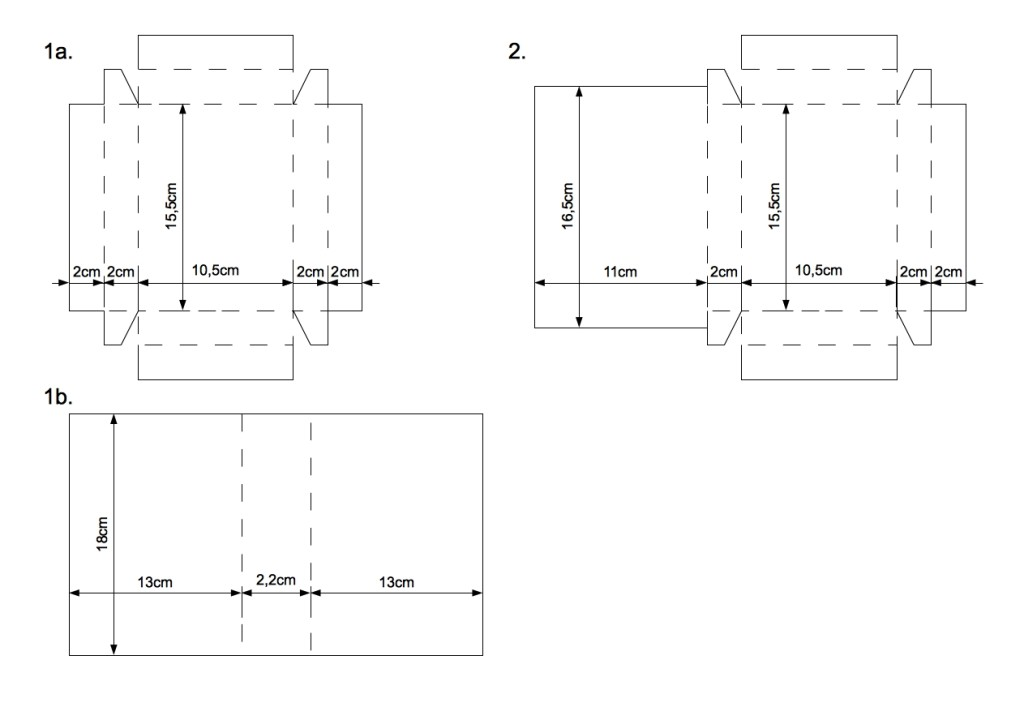 шаблоны коробок из бумаги