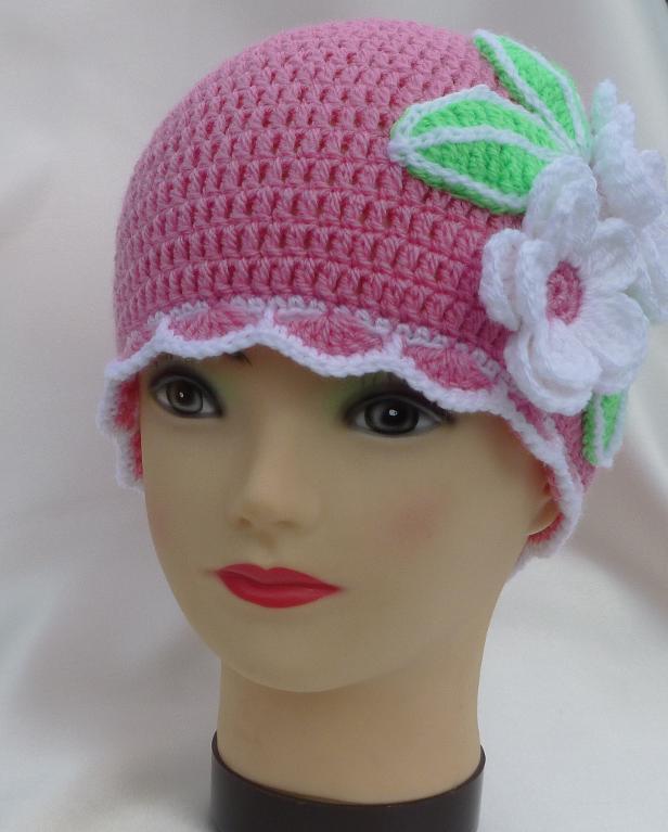 шапочки крючком для девочек схемы