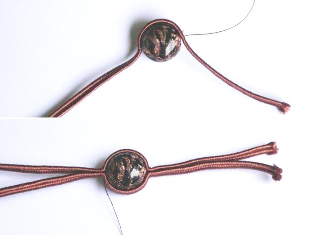 браслет в сутажной технике