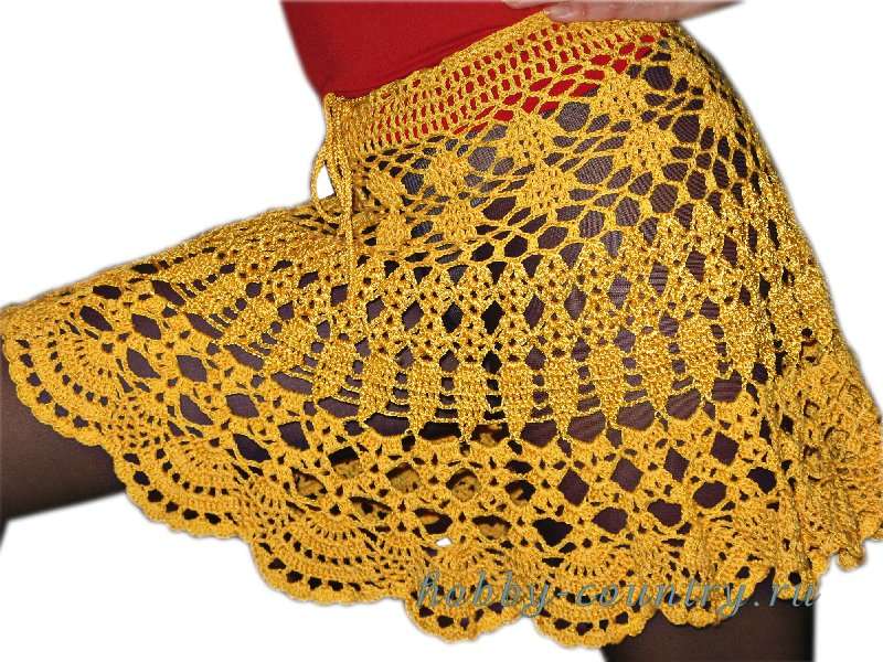 944a058615f Летняя юбка крючком юбка вязанная крючком схема схема юбки ...