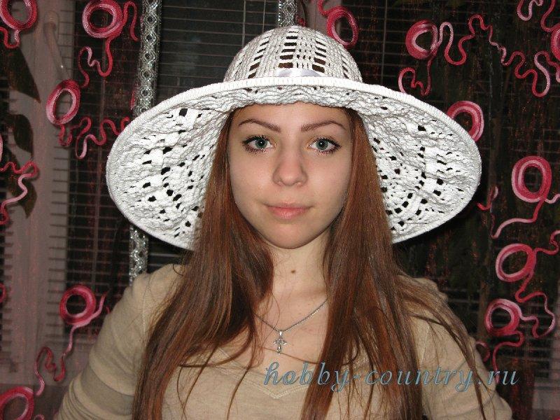шляпа крючком мастер класс