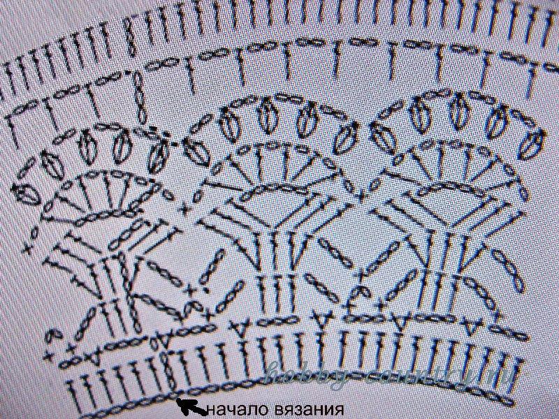 шляпа крючком схема