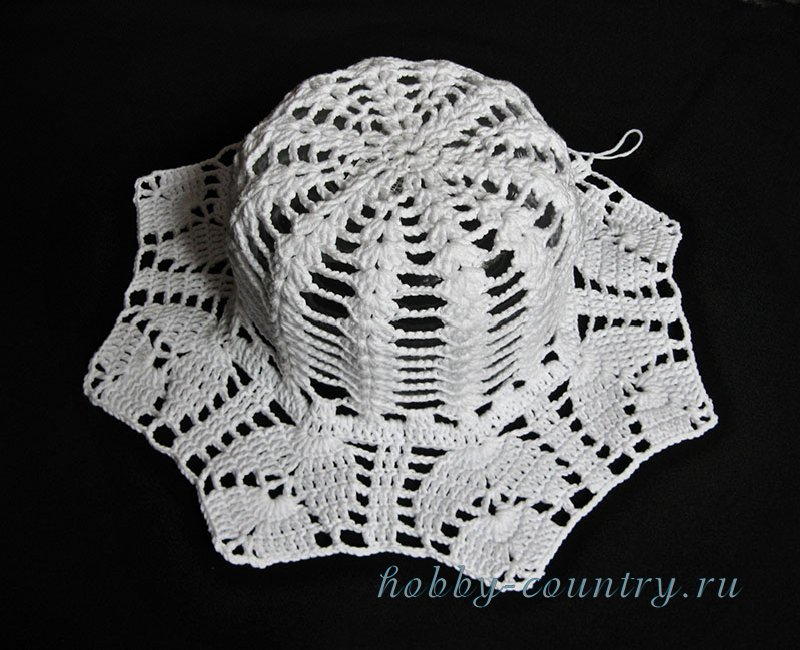 вязание крючком шляпы с полями
