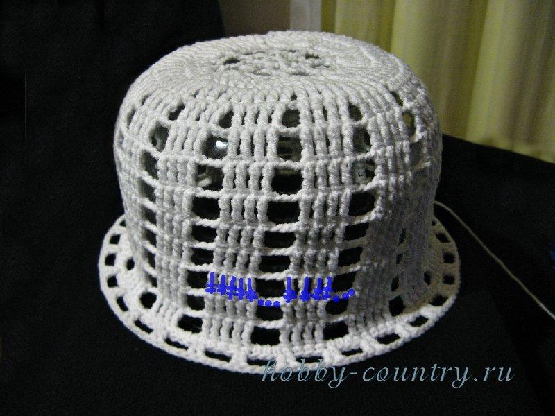 Связать летнюю шляпу с полями