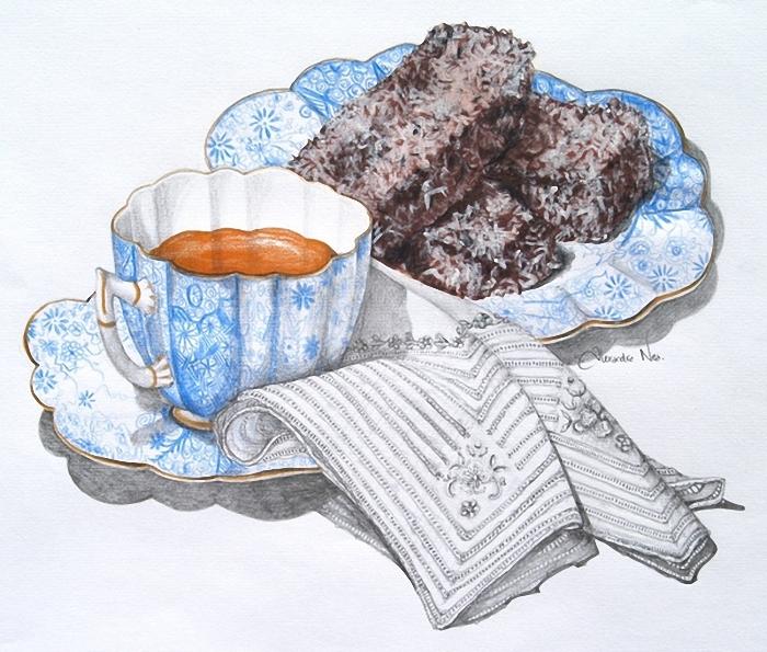 декупаж картинки чай