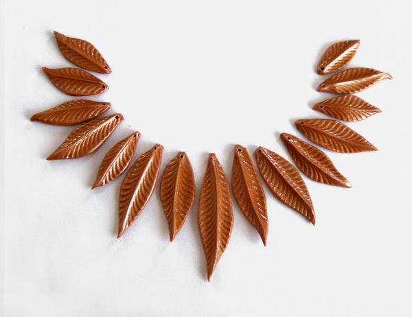 листья из полимерной глины мастер класс