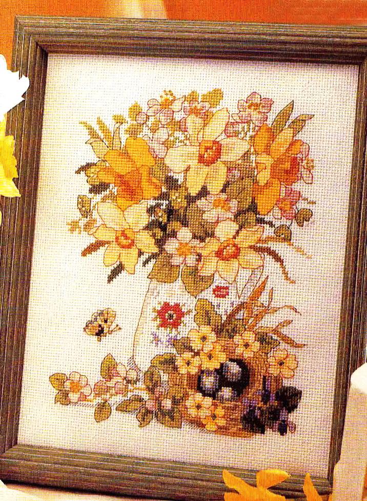 Схема вышивки букет