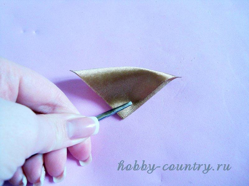 резинки для волос из атласных лент своими руками канзаши