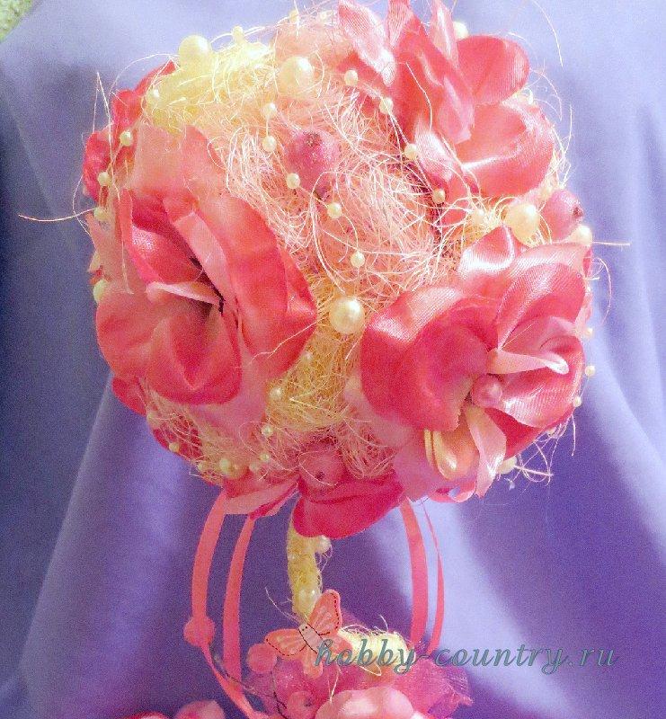 топиарий из цветов мастер класс