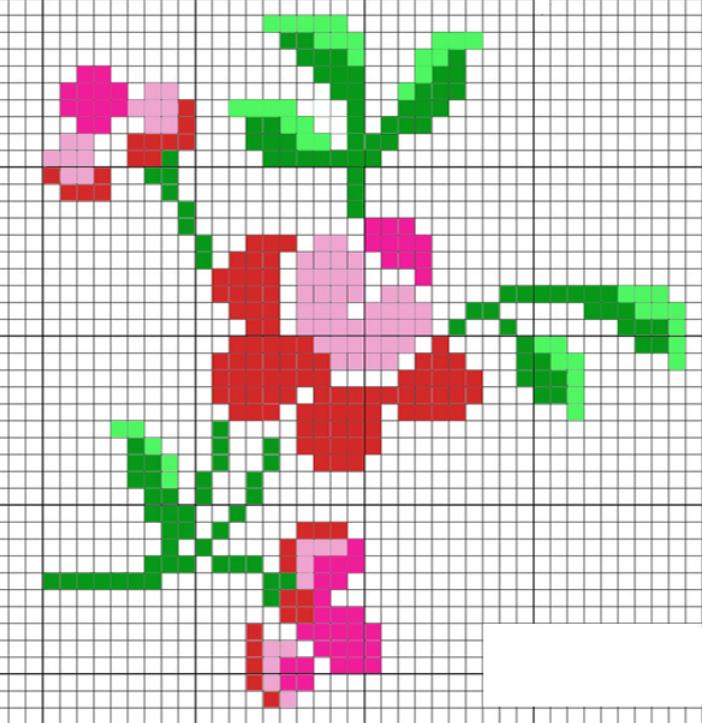 термомозаика схемы цветы