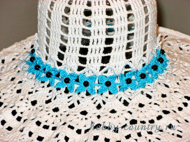 украшение для шляп крючком