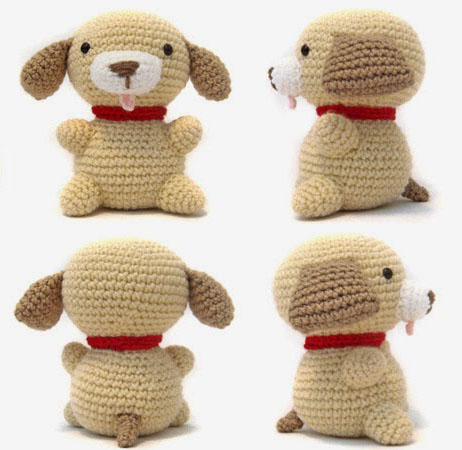 описание собака амигуруми