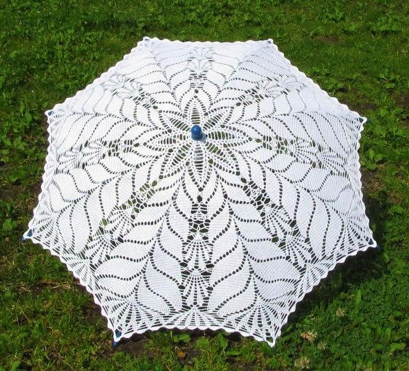 схема вязания крючком летнего зонтика