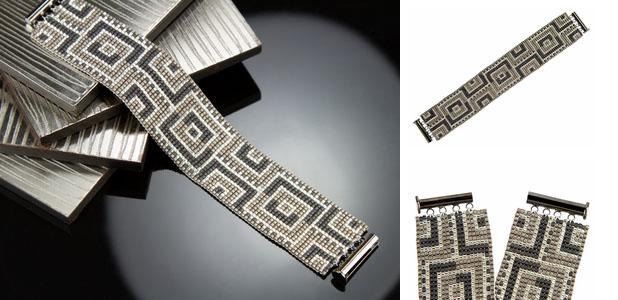 схемы плетения браслетов из бисера на станке