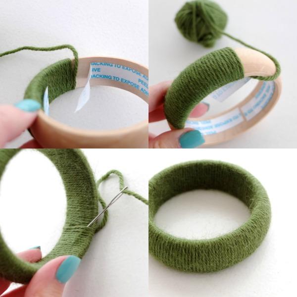 как сделать браслет из пряжи