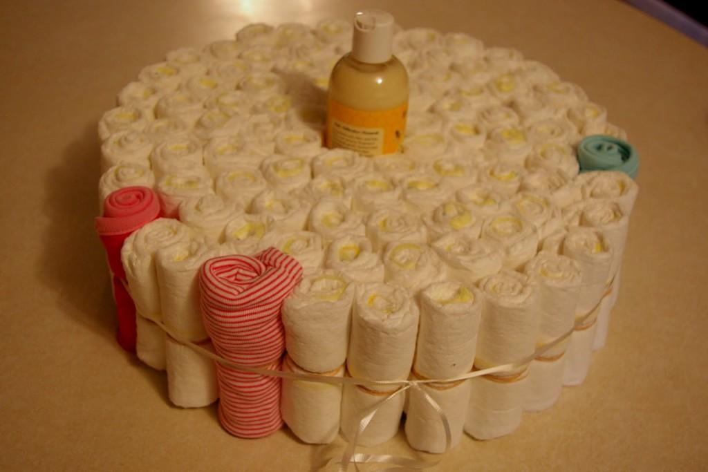 как делать торт из памперсов