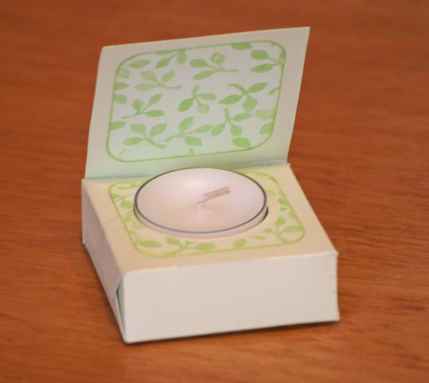 подарочная коробка для свечи